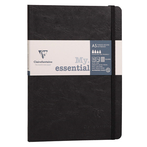 Clairefontaine My Essential Age Bag Notebook - Black