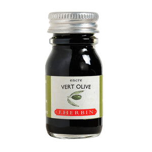J. Herbin 10ml Ink Bottle - Vert Olive (Green Olive)