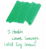 J. Herbin 10ml Ink Bottle - Lierre Sauvage (Wild Ivy Green)