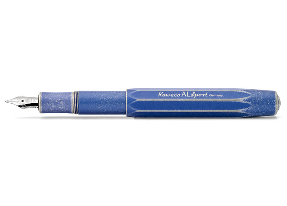 Kaweco AL Sport Stonewashed Fountain Pen - Blue Barrel