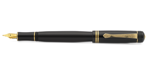 Kaweco DIA2 Fountain Pen - Black with Gold Accents