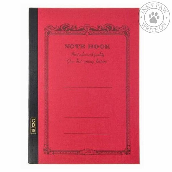 Apica Cd-15 Notebook B5 - Red Ruled Paper