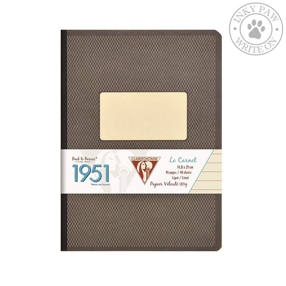 Clairefontaine 1951 A5 Clothbound Notebook - Ruled Paper