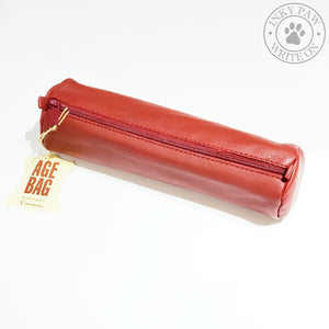Clairefontaine Age Bag Round Sheepskin Pen Case - Red Accessories