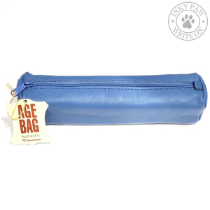Clairefontaine Age Bag Square Sheepskin Pen Case - Blue Accessories