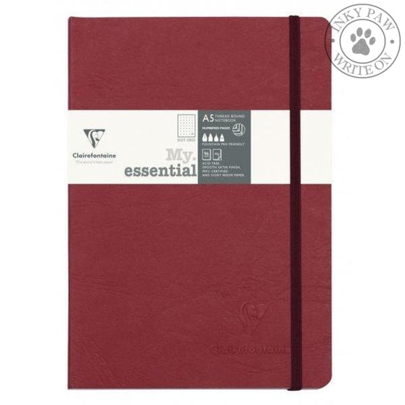 Clairefontaine My Essential Age Bag Notebook - Red Cover