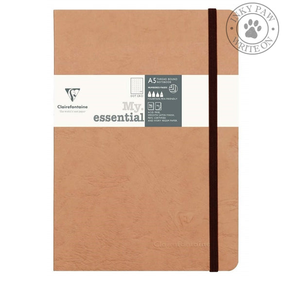 Clairefontaine My Essential Age Bag Notebook - Tobacco Cover