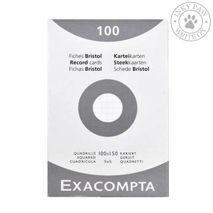 Exacompta Bristol Index Cards 100X150 5Mm Grid Paper
