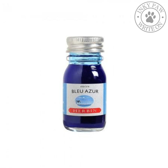 J. Herbin 10Ml Ink Bottle - Bleu Azur (Azure Blue) Fountain Pen Ink