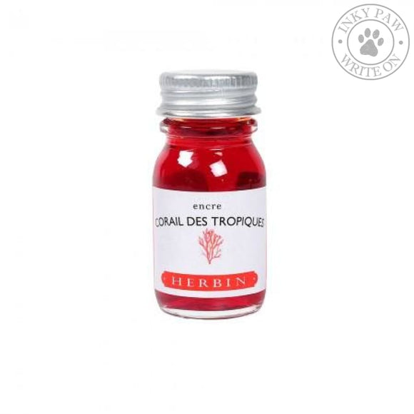 J. Herbin 10Ml Ink Bottle - Corail Des Tropiques (Tropical Coral) Inks