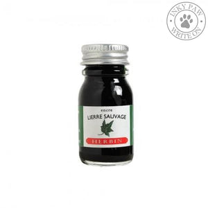J. Herbin 10Ml Ink Bottle - Lierre Sauvage (Wild Ivy Green) Fountain Pen Ink
