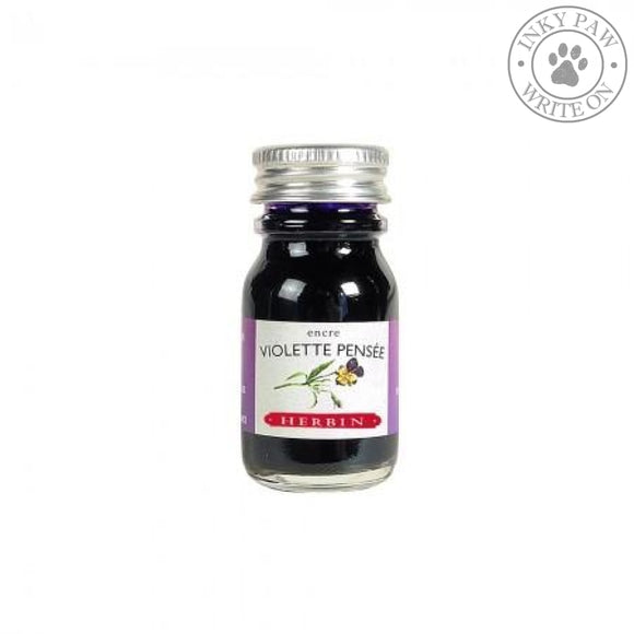 J. Herbin 10Ml Ink Bottle - Violette Pensee (Pensive Violet) Fountain Pen Ink