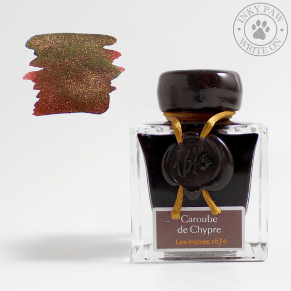 J. Herbin 1670 Collection 50 Ml Ink Bottle - Caroube De Chypre Inks