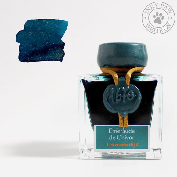 J. Herbin 1670 Collection 50Ml Ink Bottle - Emeraude De Chivor Inks