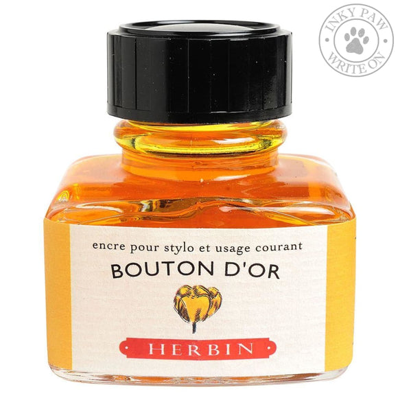 J. Herbin 30Ml Ink Bottle - Bouton Dor (Yellow Button Gold) Inks