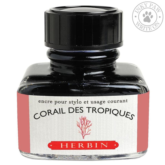J. Herbin 30Ml Ink Bottle - Corail Des Tropiques (Tropical Coral) Inks