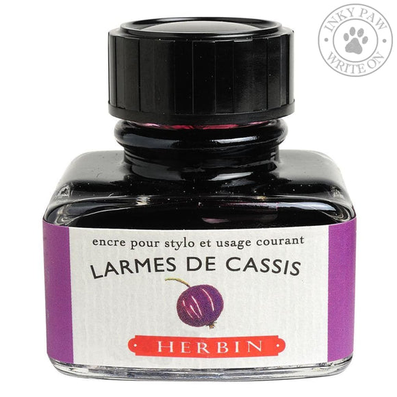 J. Herbin 30Ml Ink Bottle - Larmes De Cassis (Tears Of Blackcurrant) Inks