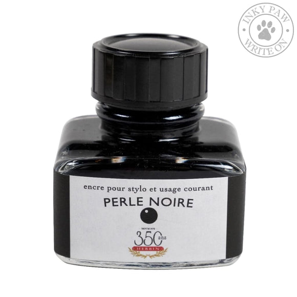 J. Herbin 30Ml Ink Bottle - Perle Noire (Black Pearl) Inks