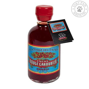 J. Herbin 350Th Anniversary 500Ml Ink Bottle - Rouge Caroubier (Carob Seed Red) Inks