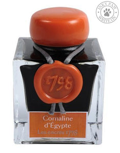 J. Herbin 50Ml 1798 Cornaline Degypte Fountain Pen Ink Bottle