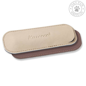 Kaweco Eco Leather Pouch For 2 Sport Pens - Creamy Espresso Accessories