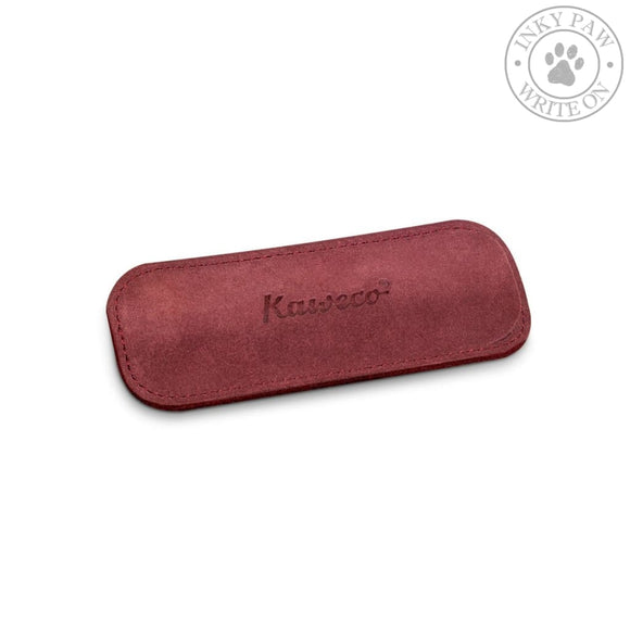 Kaweco Eco Velour Leather Pouch For 2 Sport Pens - Bordeaux Accessories