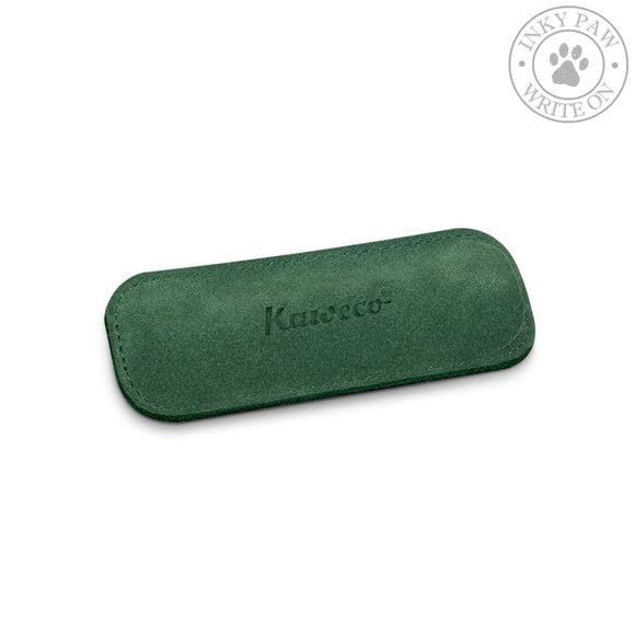 Kaweco Eco Velour Leather Pouch For 2 Sport Pens - Green Accessories