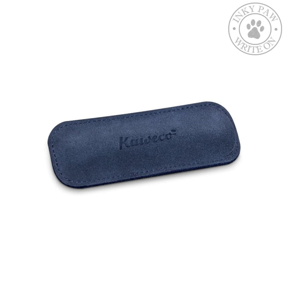 Kaweco Eco Velour Leather Pouch For 2 Sport Pens - Navy Accessories