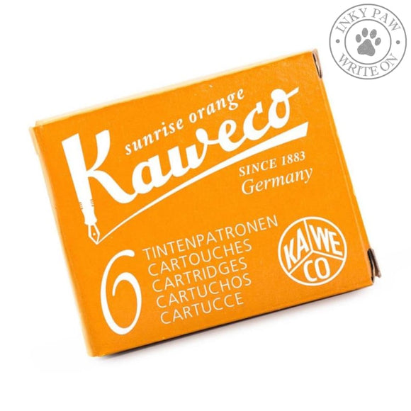 Kaweco Fountain Pen Ink Cartridges - Sunrise Orange