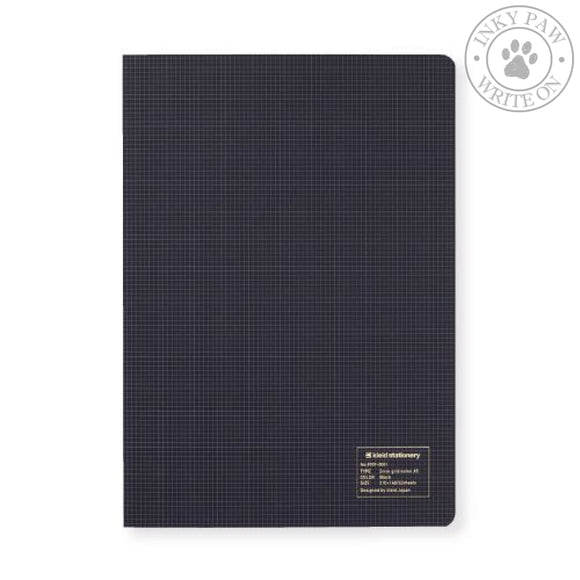 Kleid A5 2Mm Grid Notebook - Black Cream Paper