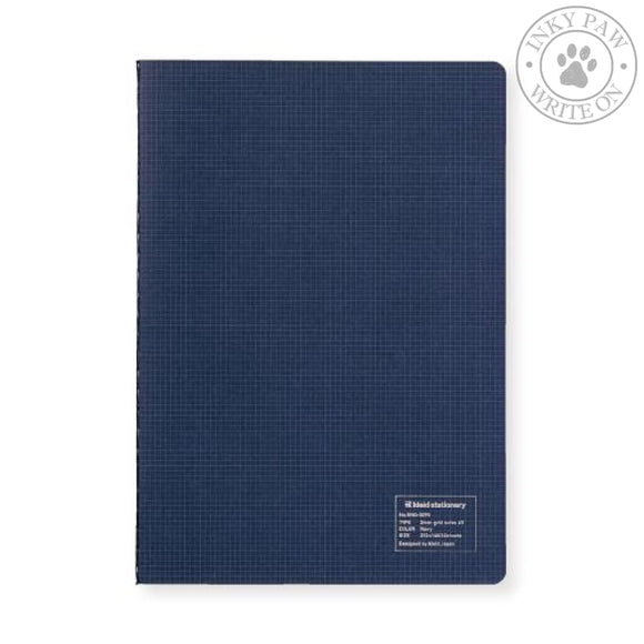 Kleid A5 2Mm Grid Notebook - Navy White Paper