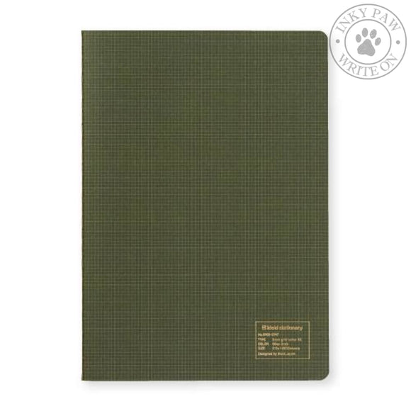Kleid A5 2Mm Grid Notebook - Olive Cream