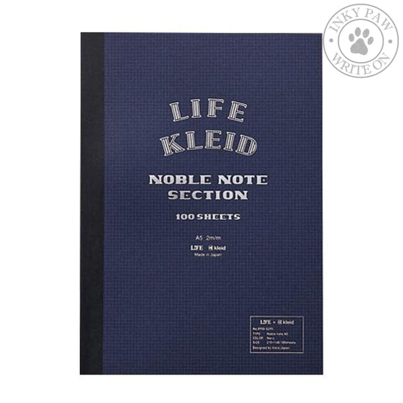 Kleid X Life Noble Note A5 Notebook - Navy White Paper