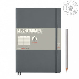 Leuchtturm1917 B5 Softcover Composition Notebook - Anthracite Ruled Paper