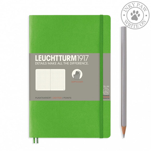 Leuchtturm1917 B5 Softcover Composition Notebook - Fresh Green Dotted