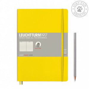 Leuchtturm1917 B5 Softcover Composition Notebook - Lemon Ruled Paper