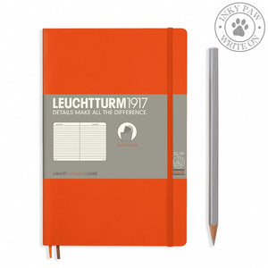 Leuchtturm1917 B5 Softcover Composition Notebook - Orange Ruled