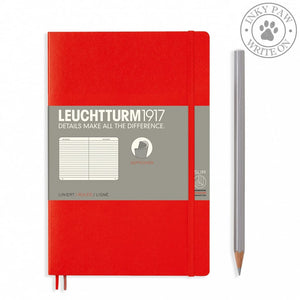 Leuchtturm1917 B5 Softcover Composition Notebook - Red Ruled