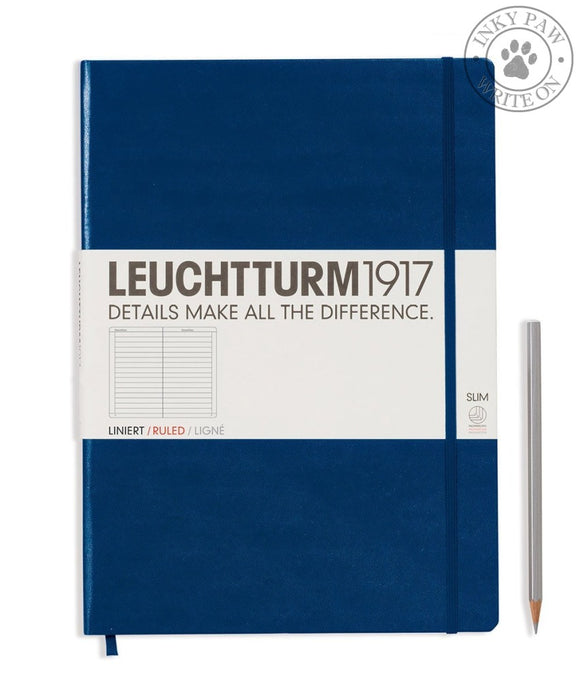 Leuchtturm1917 Master Slim (A4+) Notebook Navy Ruled