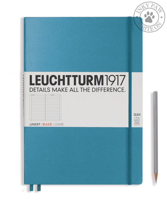 Leuchtturm1917 Master Slim (A4+) Notebook Nordic Blue Ruled