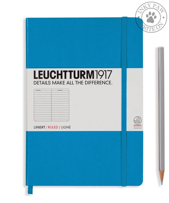 Leuchtturm1917 Medium (A5) Hardcover Journal Azure Ruled