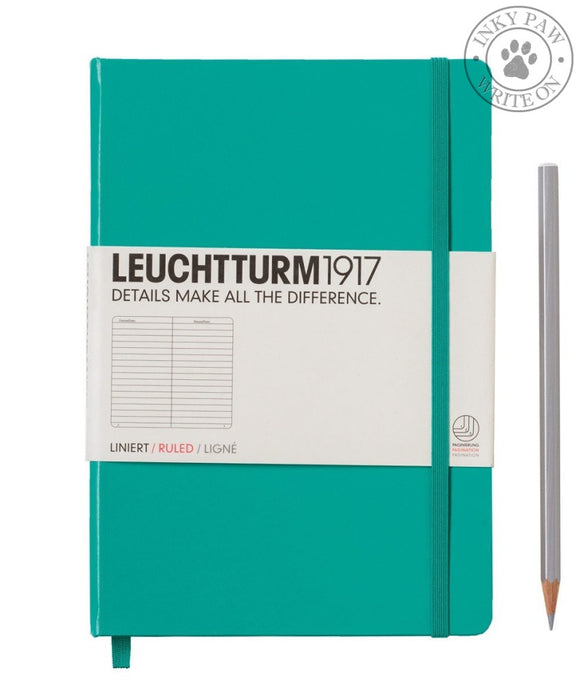 Leuchtturm1917 Medium (A5) Hardcover Journal Emerald Ruled