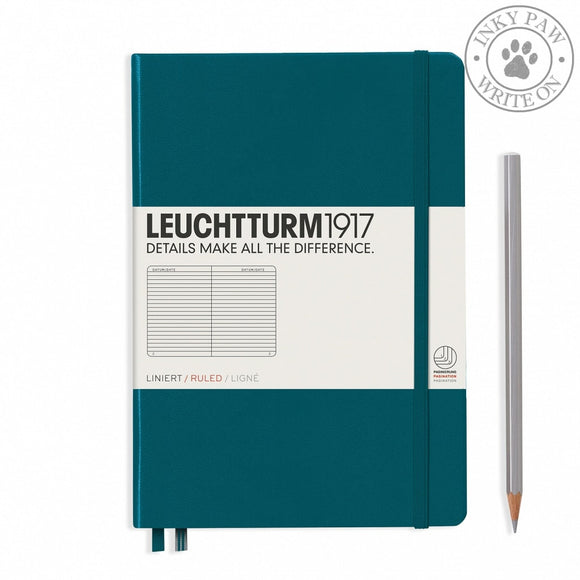 Leuchtturm1917 Medium (A5) Hardcover Journal Pacific Green