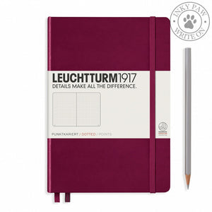 Leuchtturm1917 Medium (A5) Hardcover Journal Port Red