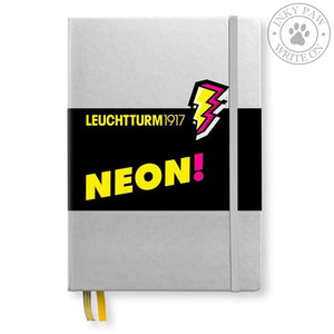 Leuchtturm1917 Medium (A5) Hardcover Journal - Silver/neon Yellow (Limited Edition) Paper
