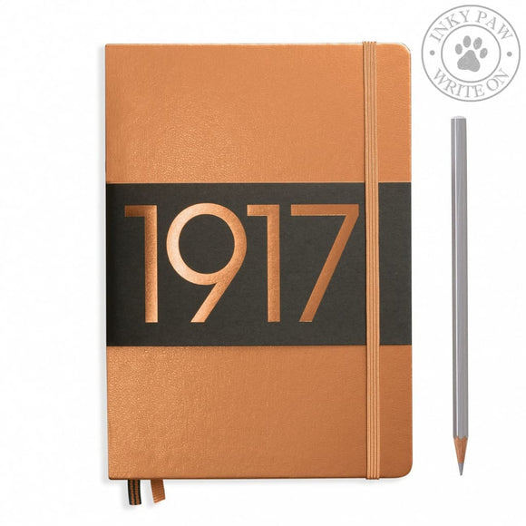 Leuchtturm1917 Metallic Edition Medium (A5) Hardcover Journal Copper Paper