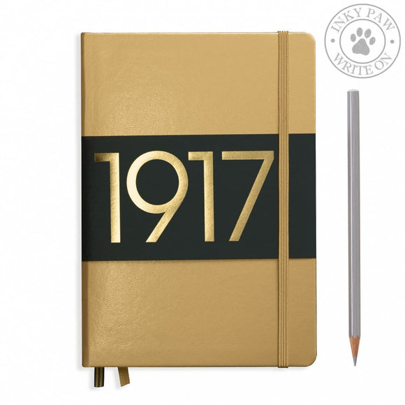 Leuchtturm1917 Metallic Edition Medium (A5) Hardcover Journal Gold Paper
