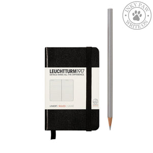 Leuchtturm1917 Mini (A7) Hardcover Notebook Black Ruled