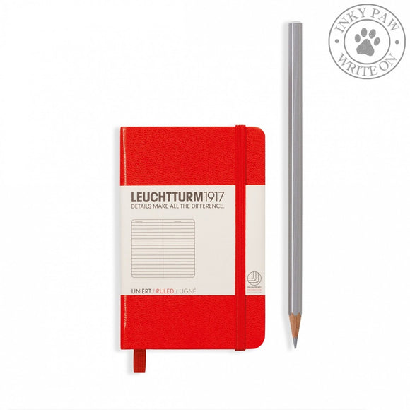 Leuchtturm1917 Mini (A7) Hardcover Notebook Red Ruled