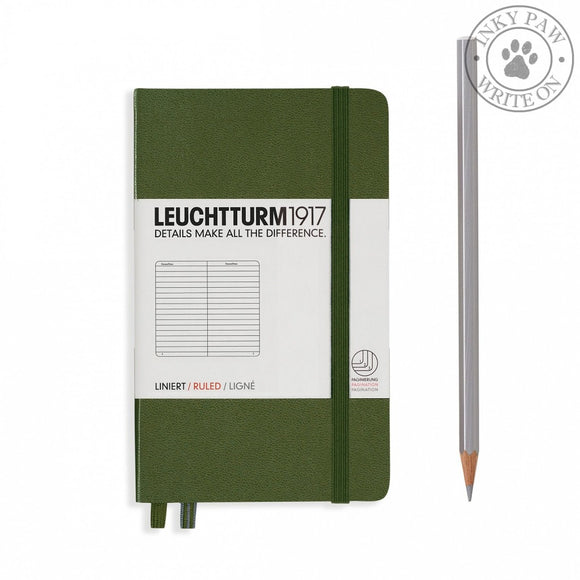 Leuchtturm1917 Pocket (A6) Hardcover Notebook Army Ruled